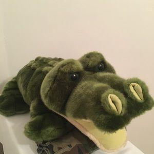 "Rainforest cafe kids alligator plushy 45"""
